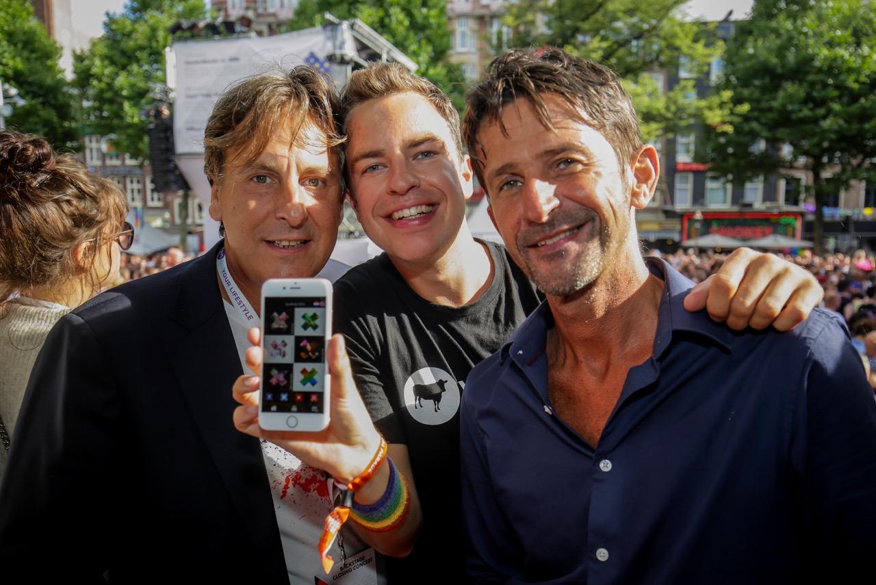 Bas met Cornald Maas en Lucien Spee