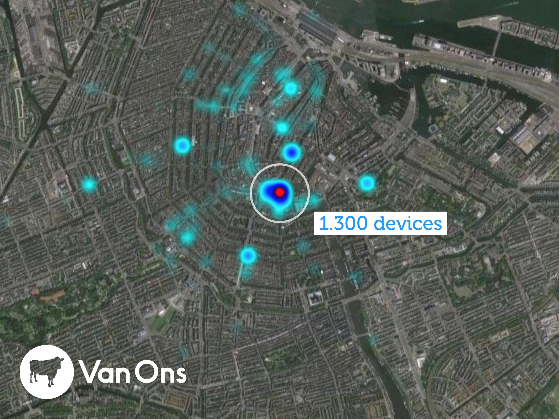 iBeacon Heatmap Amsterdam Gay Pride
