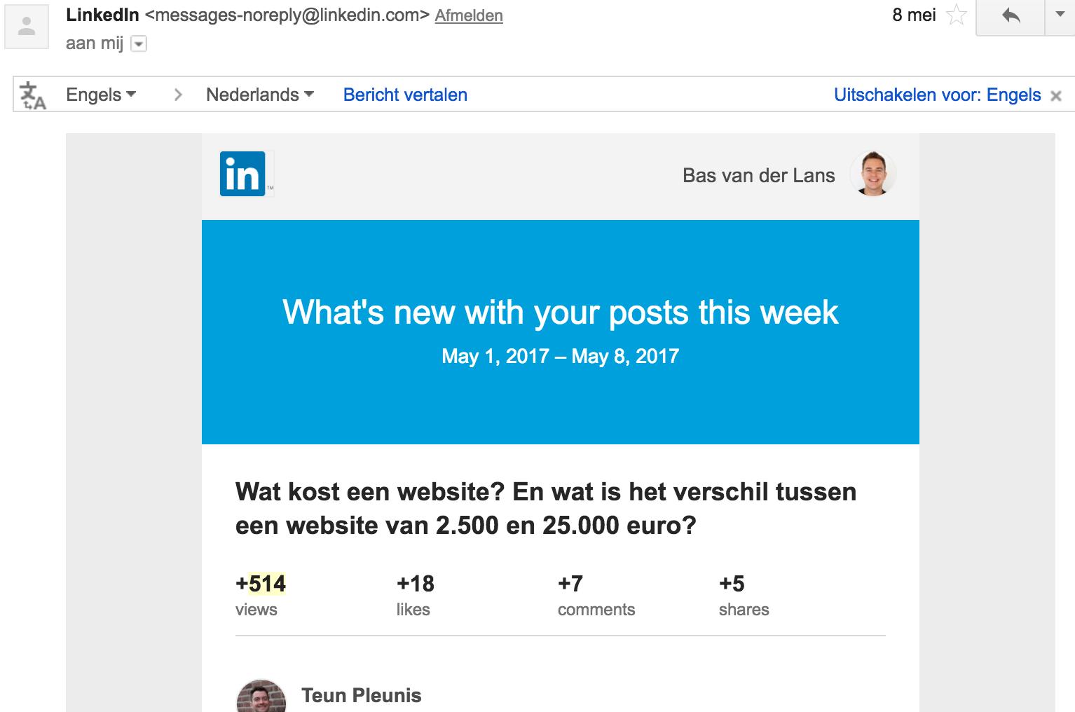 Gebruik jij jouw WordPress Data zoals LinkedIn?